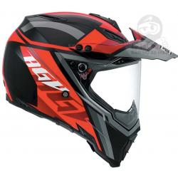 AGV AX-8 Dual Evo Karakum Multi Red Black