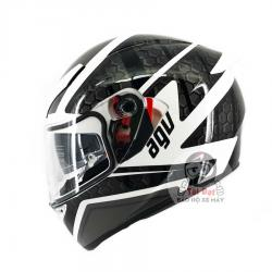 AGV K3 SV Pulse White Black Gun Metal Asian Fit
