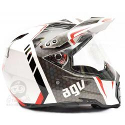 AGV AX-8 Dual Evo GT White - Red
